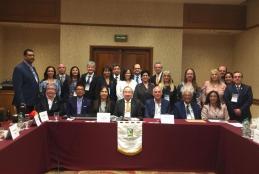 Vocales de la SOLAMI de los diferentes países latinoamericanos que la integran. Encabezados por el actual Prsidente SOLAMI, Dr. MArio Llorenz y el Secretario Permanente, Dr. José Luis Akaki